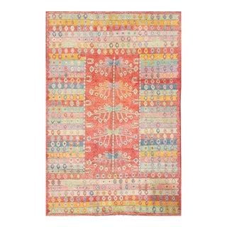 """Apadana - Modern Multicolored Afghan Gabbeh Rug, 6'8"""" x 9'8"""""""