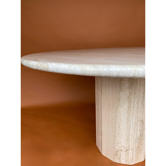 Vintage Italian Stone International Travertine Dining or Entry Table For Sale In Dallas - Image 6 of 8