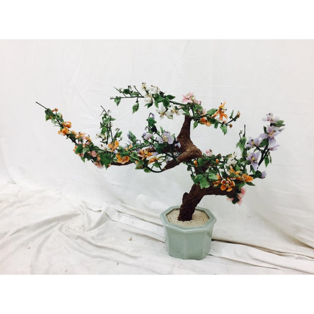 Vintage Mixed Stone Bonsai Tree Sculpture - Image 3 of 11