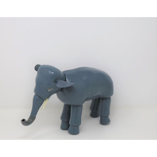Vintage Blue Elephant Figurine For Sale - Image 4 of 4