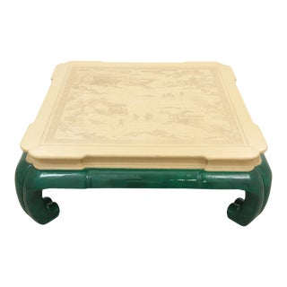 Drexel Ming Style Jade Coffee Table For Sale
