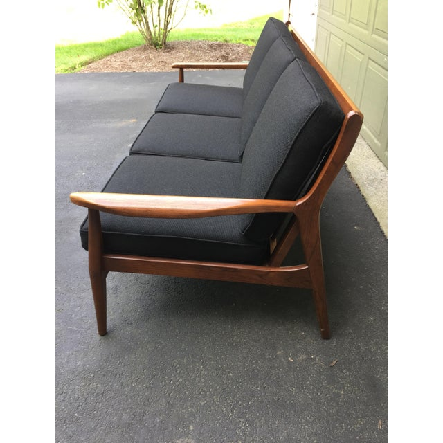 Danish Modern Style Open Arm Sofa For Sale - Image 4 of 11