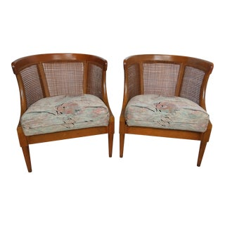 1970s American Classical American of Martinsville Caned Chairs - a Pair For Sale