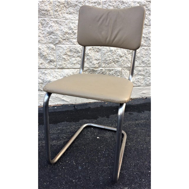 Chrome Art Deco Tube Side Chair For Sale - Image 7 of 7