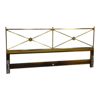 Solid Brass King Headboard by Baker Mid-Century Modern For Sale