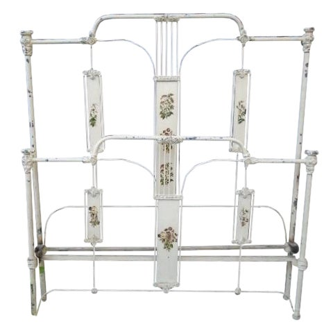 Antique Iron Full Bed - Image 2 of 12