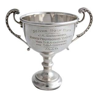 1956 Sterling Husband & Wife Golf Trophy