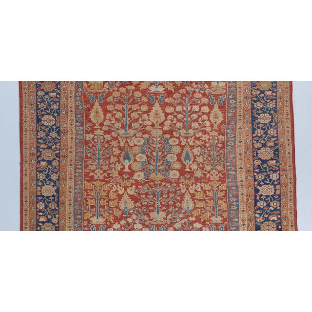 Late 19th Century Red Ground Mahal Carpet For Sale - Image 5 of 6