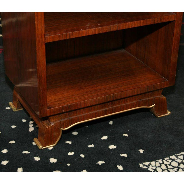 Art Deco Jules Leleu Pair of French Art Deco Side Tables For Sale - Image 3 of 9