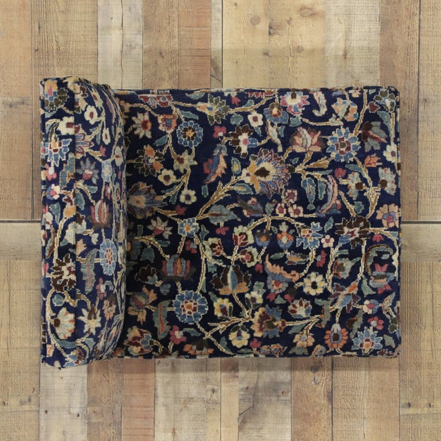 Late 19th Century 1880's Persian Low Profile Slipper Chair or Petbed From Antique Khorassan Rug For Sale - Image 5 of 7