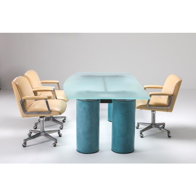 1970s Massimo Vignelli 'Serenissimo' Dining Table/Desk for Acerbis For Sale - Image 12 of 13