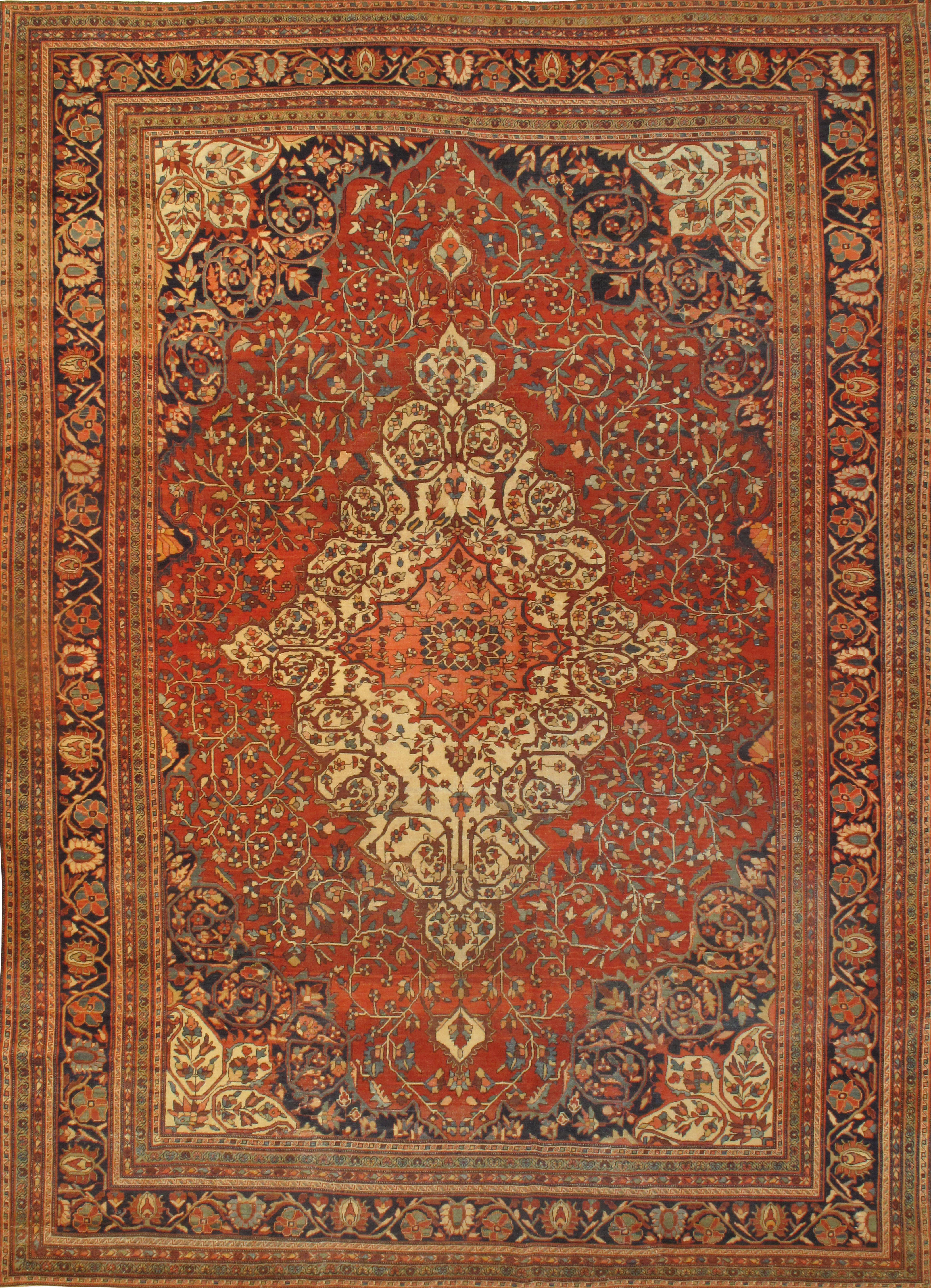 "Pasargad N Y Antique Persian Ferahan Rug - 8'9"" X 12'4"""
