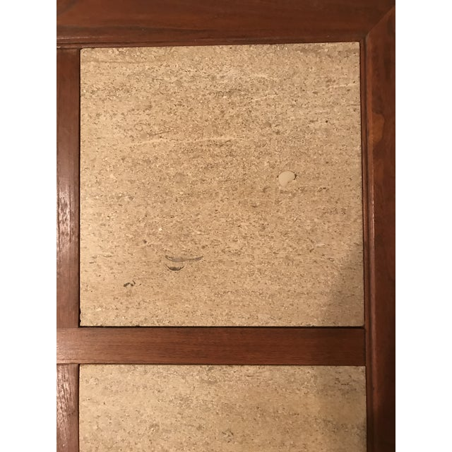 Mid-Century Modern Travertine Inlay Storage Table For Sale - Image 9 of 10