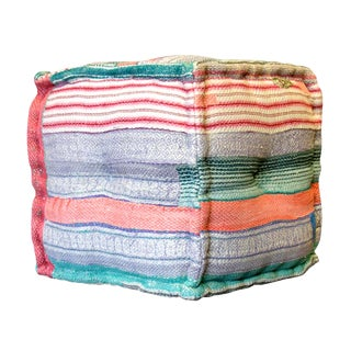 Striped Bengal Kantha Cube
