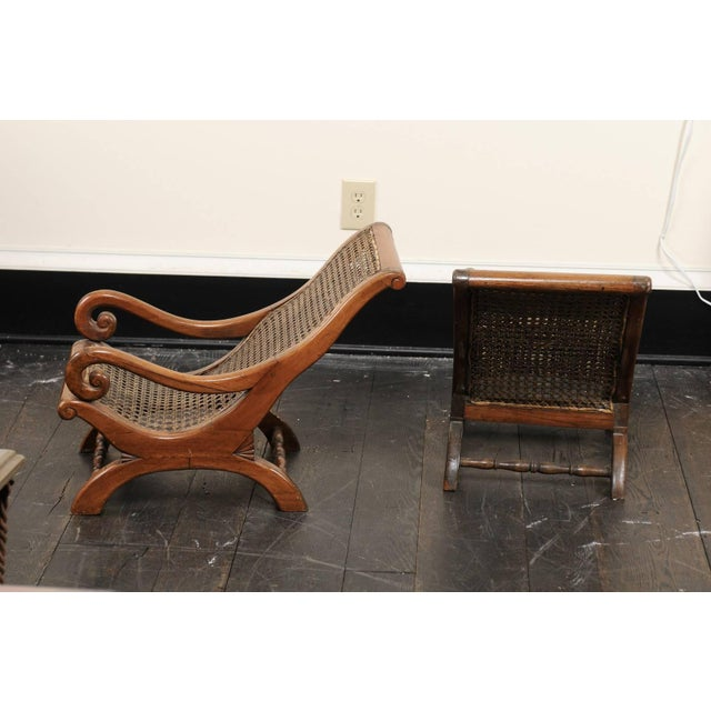 Pair of French 19th Century English Children's Chairs With Cane Backs and Seats For Sale In Atlanta - Image 6 of 11