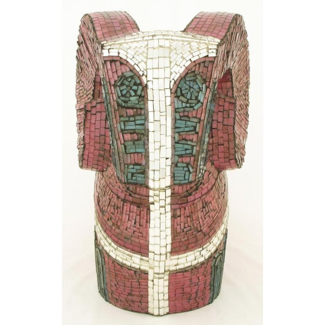 Abstract Ram Sculpture Clad In Miniature Glass Mosaic For Sale In Chicago - Image 6 of 7