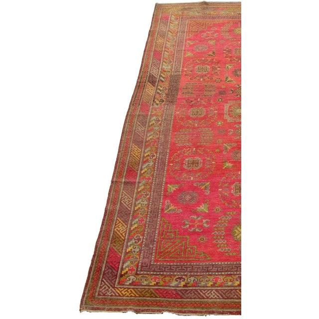 Islamic Antique Khotan Samarkand Runner -12'1'' X 6'7'' For Sale - Image 3 of 6