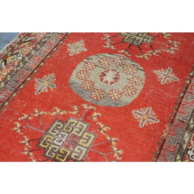 Asian Vintage Hand Knotted Khotan Circa 1900 - 4′9″ × 9′ For Sale - Image 3 of 7