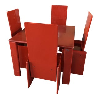 Kazuhide Takahama Lacquer Table and Chairs Simon International Italy For Sale