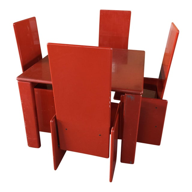 Kazuhide Takahama Lacquer Table and Chairs Simon International Italy - Image 1 of 9