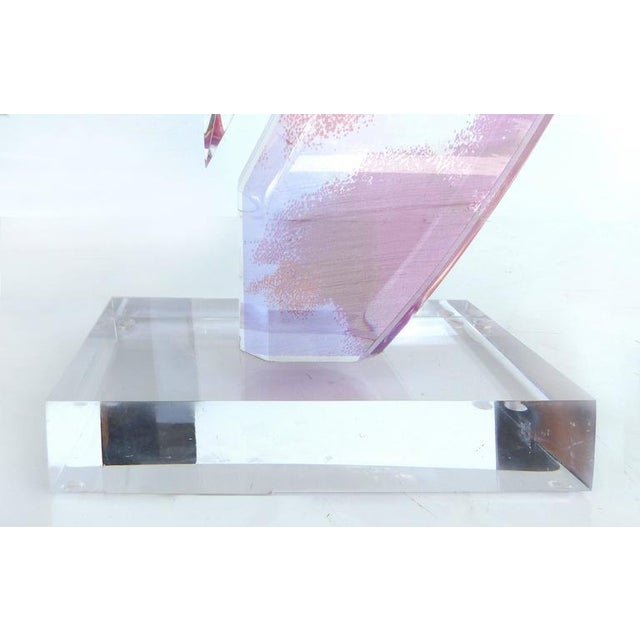 Custom-Made Lucite Sculpture with Infused Color For Sale - Image 9 of 11