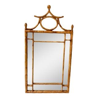 Carved Pagoda Shaped Mirror