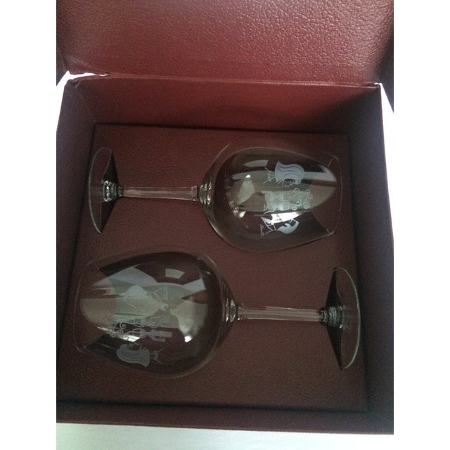 Metal Mary Lynn Blaustta for Flemings Wine Glasses - a Pair For Sale - Image 7 of 10