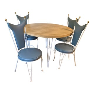 Mid Century Antarenni Woodard Kitchen Dinette Set - 5 Pieces For Sale