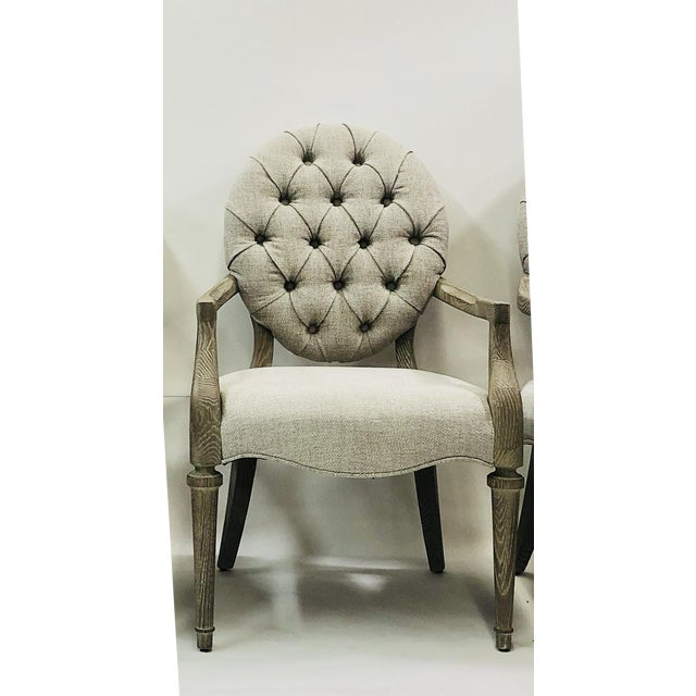 Contemporary Tufted Upholstered Armchair For Sale - Image 9 of 9
