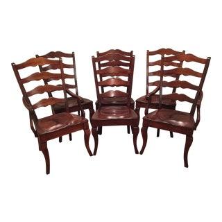 Nichols & Stone Ladder Back Dining Chairs - Set of 6