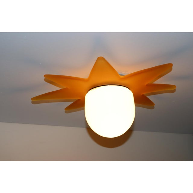 1980 Mid-Century Modern Murano Glass Ceiling Lamp For Sale In New York - Image 6 of 7