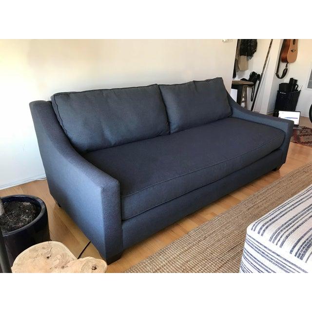 Navy Blue Custom Sofa - Image 2 of 8