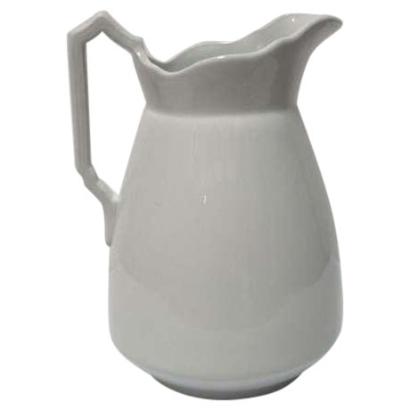 Large 19th Century English Ironstone Pitcher For Sale