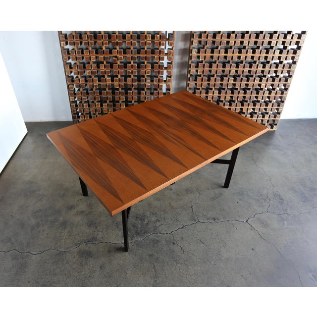 Wood 1960s Mid-Century Modern Milo Baughman Dining Table for Directional Furniture For Sale - Image 7 of 13