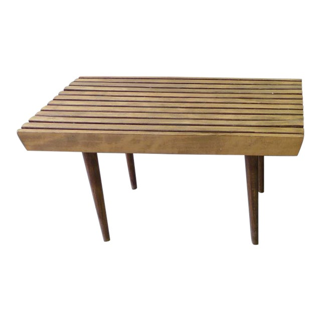 style slat wanderings bench coffee nelson mid wood dollars table century the info and in of