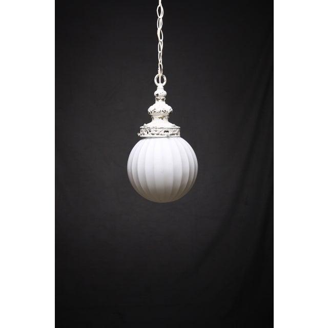 Antiqued White Globe Pendant - Image 5 of 5