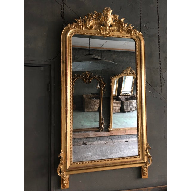 Beautiful mirror from the South of France, with its original mercury mirror glass; in a marvelous condition regarding both...