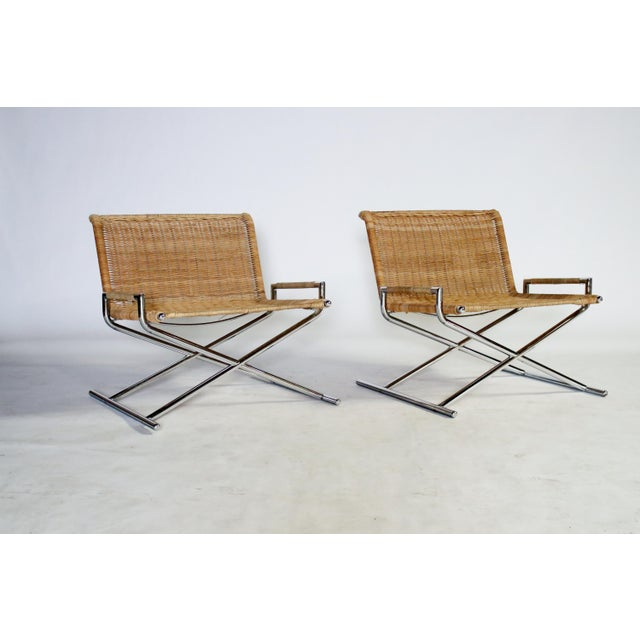Metal Ward Bennett Brickel Sled Chairs For Sale - Image 7 of 11