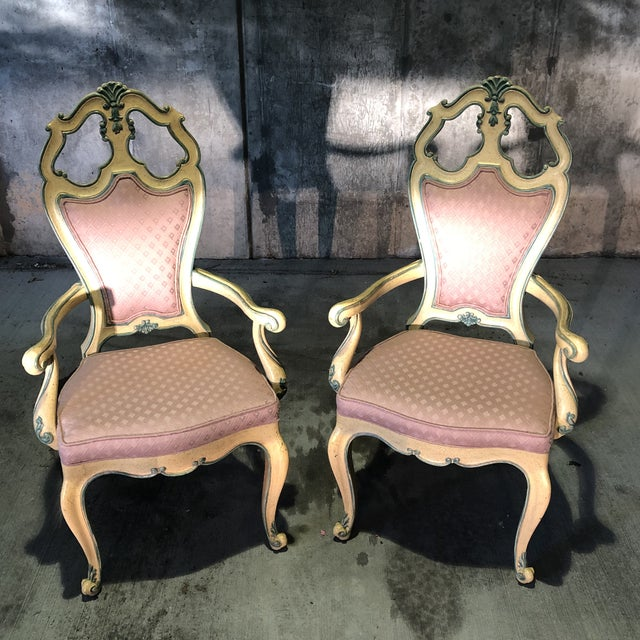 Victorian Style Era Gothic Chairs- a Pair For Sale - Image 4 of 9