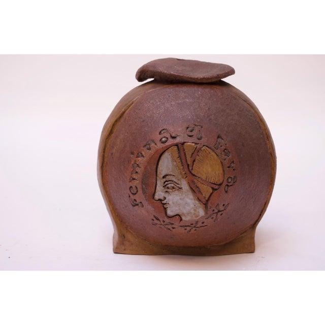 """Femina El Fera"" Figural Studio Stoneware Vase / Candleholder Signed Polk For Sale - Image 13 of 13"