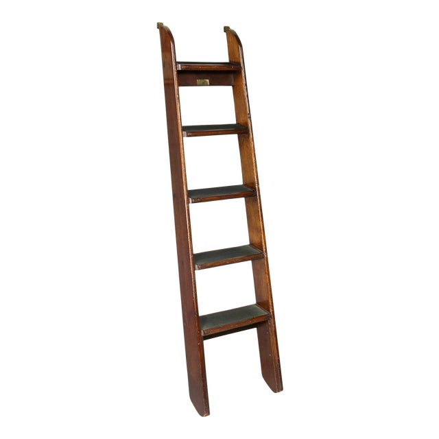 Edwardian Mahogany Bed Ladder from the R.M.S Queen Mary For Sale