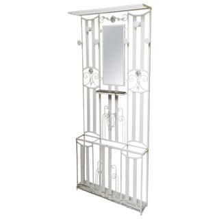Art Deco French Iron Entry Hall Stand For Sale