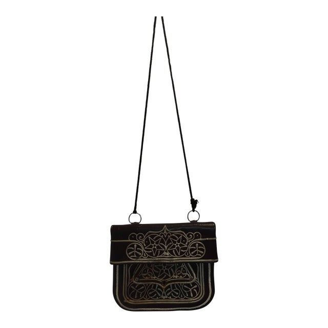 Cross Body Leather African Berber Tribal Moroccan Bag For Sale