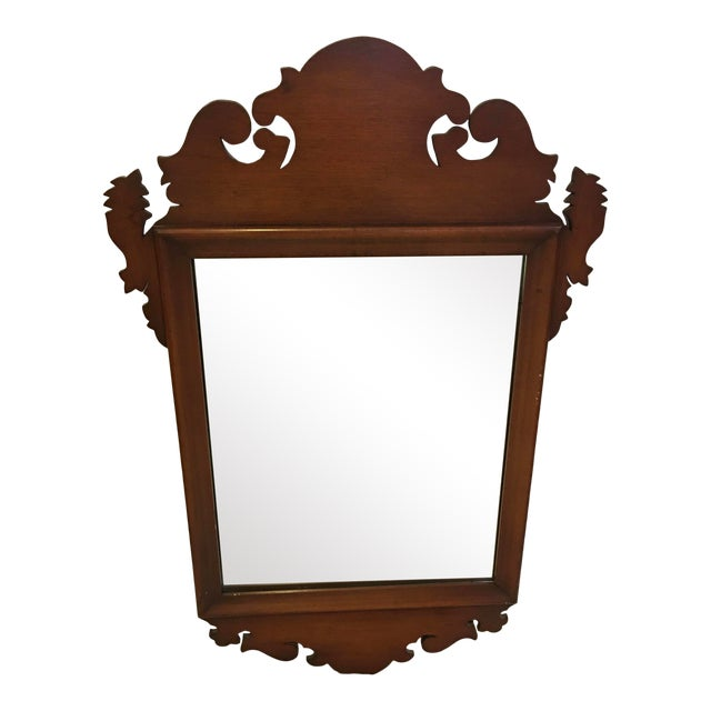Chippendale Style Mahogany Mirror Wall Decor For Sale