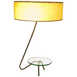 Mid Century Modern Brass Grasshopper Table Lamp For Sale