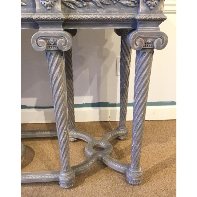 Henredon Henredon White Marble French Style Console Table For Sale - Image 4 of 7
