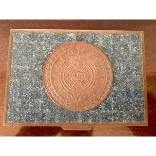 Salvador Tehran of Mexico Blue Brass & Glass Mosaic Box Preview