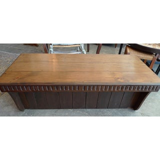 19th Century Spanish Hand-Carved Walnut Low Table Preview