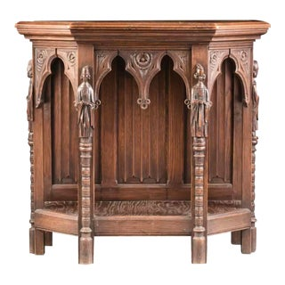 Antique English Carved Console For Sale