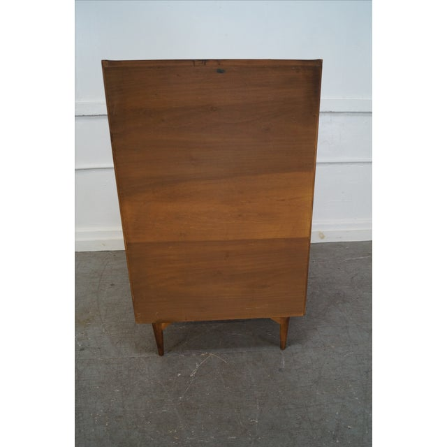 Mid-Century Danish Influenced Walnut Tall Chest - Image 3 of 10